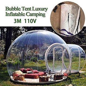 6. HUKOER Luxurious Outdoor Single Tunnel Inflatable Bubble Tent