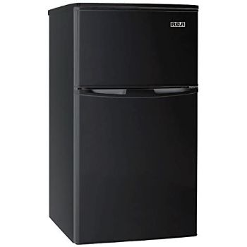6. RCA RFR835-Black 3.2 Cubic Foot 2 Door Fridge and Freezer