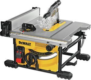 7. DEWALT Table Saw for Jobsite (DWE7485)