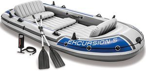 7. Intex Excursion 5, 5-Person Inflatable Boat Set