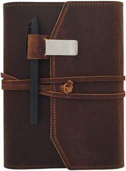 7. POROMO Leather Notebooks
