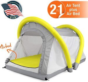 7. SereneLife Outdoor Inflatable Camping 2 in 1 Airbed Tent