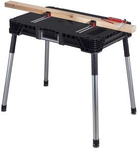 8. Keter Jobmade Portable Work Bench and Miter Saw Table