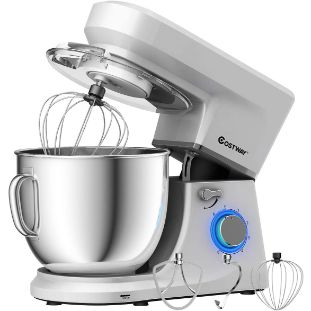 9. COSTWAY Stand Mixer, 7.5 QT, 6-Speed