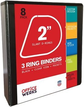 9. Ring Binder Depot Binders for College with D Ring
