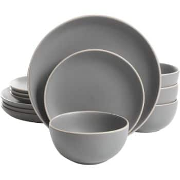 3. Gibson Home Rockaway 12-Piece Dinnerware Set