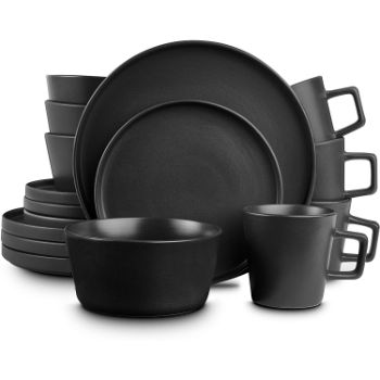 5. Stone Lain Coupe Dinnerware Set, Service For 4