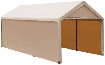 1. Abba Patio 10 x 20 ft Heavy Duty Beige Carport - Best Shelterlogic