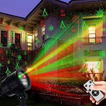 1. Christmas Laser Lights, Waterproof Projector Lights