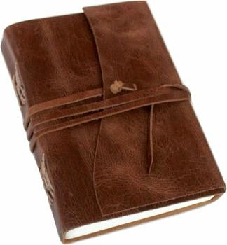10. Antique Dark Brown Leather Journal Diary