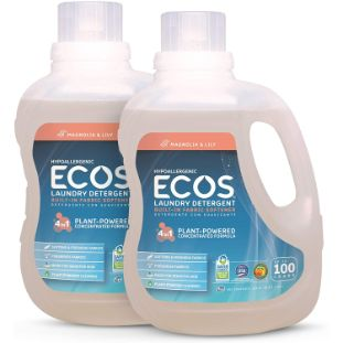 10. Earth Friendly Products ECOS 2X Liquid Laundry Detergent