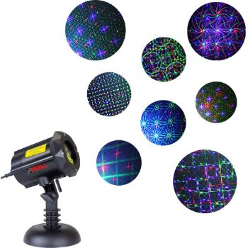 10. Motion 8 Patterns in 1 LEDMALL RGB Outdoor Laser Christmas Lights