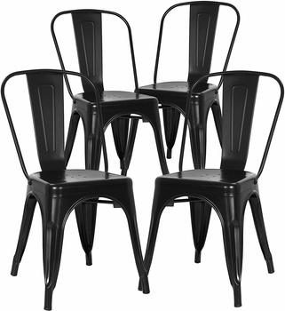 10. Poly and Bark Trattoria Kitchen and Dining Metal Side Chair
