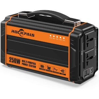 10. Rockpals 250-Watt Portable Generator Rechargeable Lithium Battery Pack