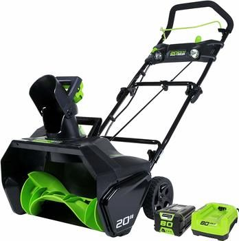 11. Greenworks PRO 20-Inch 80V Cordless Snow Thrower