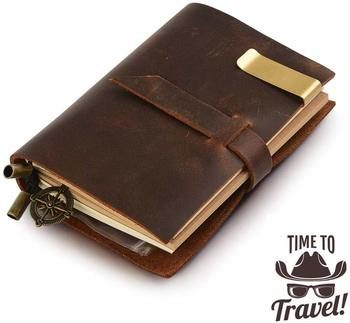 12. Classic Genuine Leather notebook