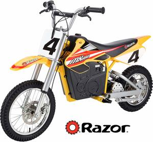 12. Razor MX650 Rocket Electronic Motorcross Bike