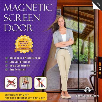 16. Magnetic Screen Door Mesh Curtain
