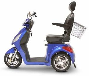 2. EWheels (EW-36) 3-Wheel Mobility Scooter – Royal Blue