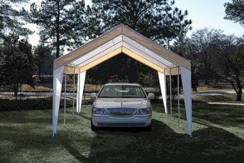 2. True Shelter 10' x 20' Car Canopy - Best Shelterlogics