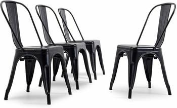 3. Belleze Best Metal Dining Chair Sets of (4)