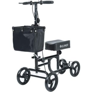 3. ELENKER Steerable Knee Walker Deluxe Medical Scooter