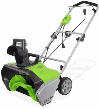 3. Greenworks 20-Inch 13 Amp Corded Snow Thrower