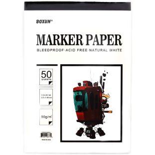 3. Premium 50 Sheets Sketch Marker Paper Pad