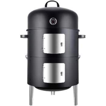 3. Realcook Vertical 17 Inch Steel Charcoal Smoker