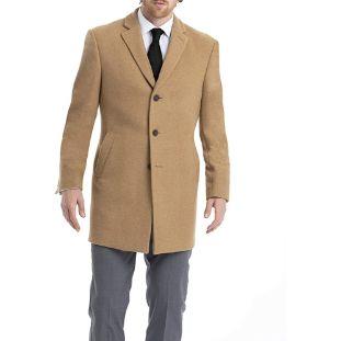 4. Calvin Klein Men's Slim-Fit Wool Blend Overcoat Jacket