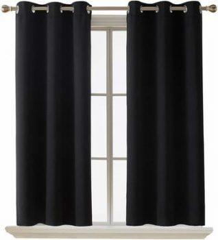 4. Deconovo Room Darkening Window Blackout Curtain