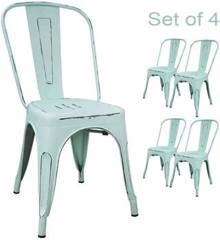 4. Devoko Metal Indoor-Outdoor Chairs