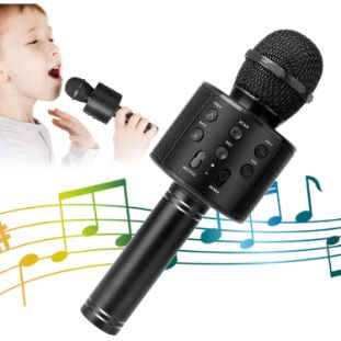 4. KIDWILL 5-in-1 Bluetooth Karaoke Microphone