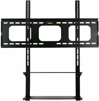 4. Mount-it! Low Profile Flat Panel TV Mount and Glass Entertainment Center Combo