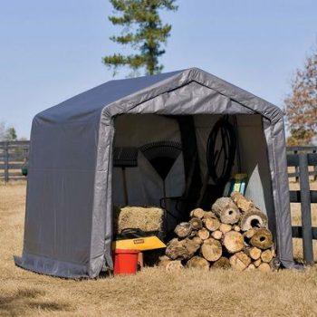 4. ShelterLogic 10' x 10' Shed-in-a-Box All Season Steel Metal Peak Roof