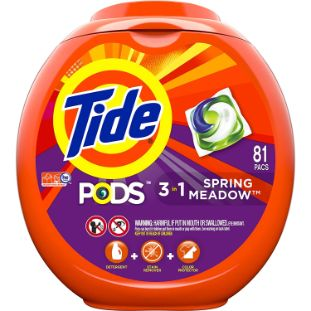 4. Tide Pods 3 in 1, Laundry Detergent Pacs