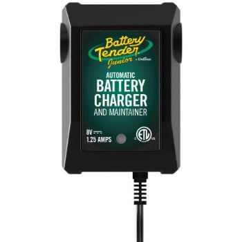5. Battery Tender Junior 8V, 1.25A Battery Charger, and Maintainer