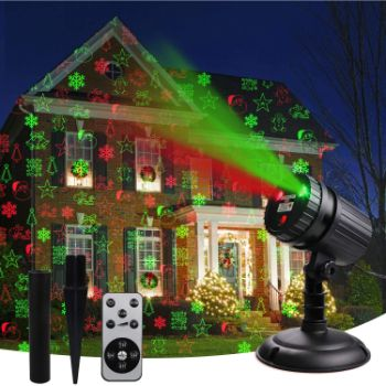 5. Christmas Laser Projector Lights, 8 Patterns