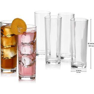 5. Cocktail Highball Glasses, Set of 8