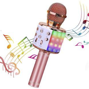 5. ShinePick Wireless 4 in 1 Bluetooth Karaoke Microphone