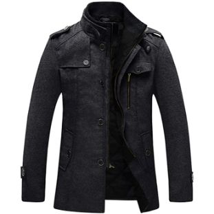 5. Wantdo Men's Wool Blend Jacket Stand Collar