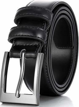 6. Marinos men genuine leather dress belt