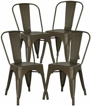 6. Poly and Bark Trattoria Metal Dining Chair