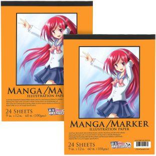 6. U.S. Art Supply Premium Manga-Marker Paper Pad