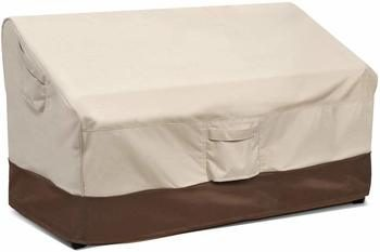 6. Vailge 2-Seater Heavy Duty Patio Deep Bench Loveseat Cover Lawn Patio with Air Vent