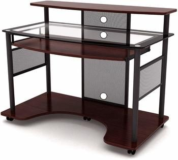 6. Z-Line Designs Cyrus Workstation Glass Computer Desk