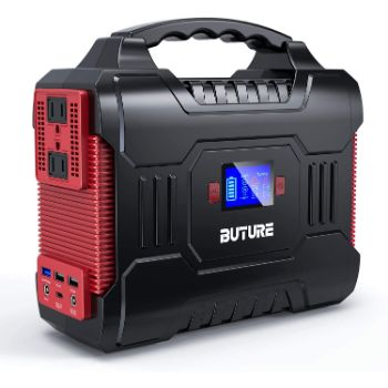 7. BUTURE 266Wh Solar Outdoor Generator, 72000mAh 60W PD Power Bank