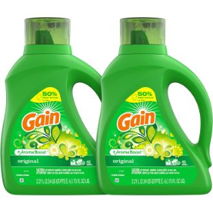 7. Gain Laundry Detergent Liquid Plus Aroma Boost, 75 Fl Oz