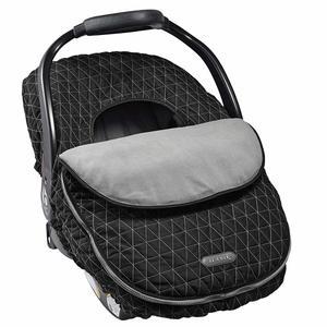 7. JJ Cole Car Seat Cover Black Tri Stitch