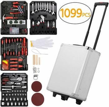 7. Yaheetech Sturdy Mechanics Tool Sets Tool Box